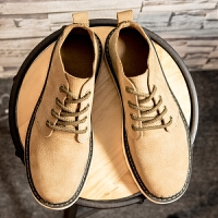 夏季马丁靴男磨砂牛皮低帮沙漠鞋2017新款青年纯色圆头休闲工装鞋