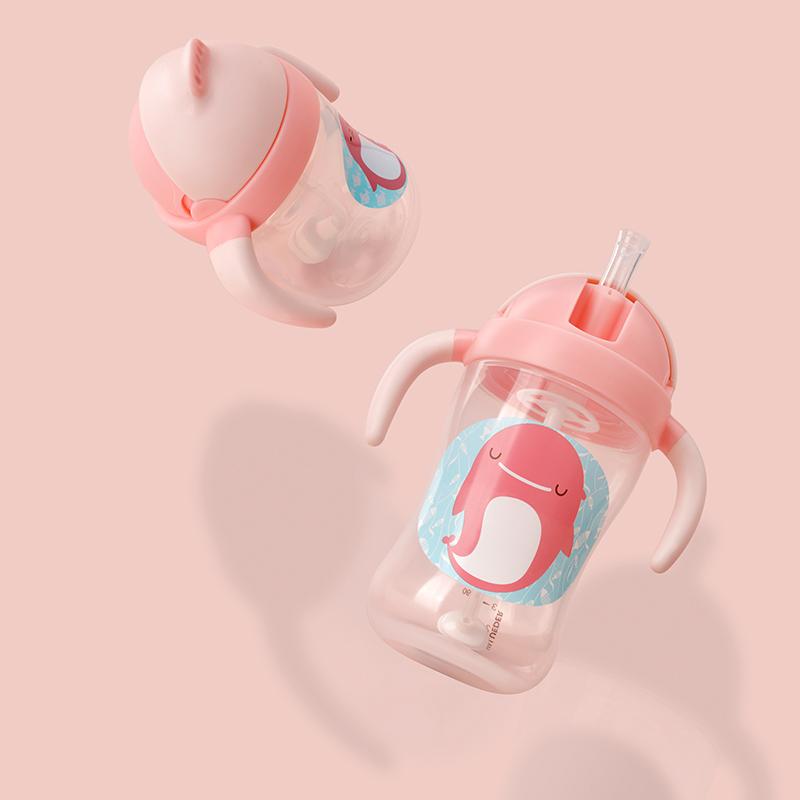 宝宝婴儿喝水杯 幼儿饮水杯 吸管杯 儿童学饮杯
