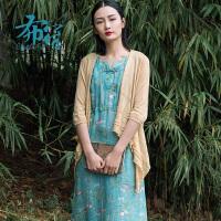 布符女装原创2018春夏不规则针织开衫女士简约镂空气质外搭毛线衣