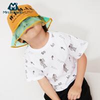 【8.19日2件3折价:29.7】迷你巴拉巴拉男童短袖T恤2019夏装新款童装薄款圆领纯棉儿童体恤