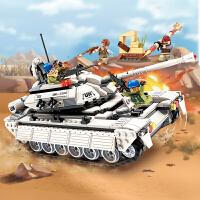启蒙3206 维和部队系列坦克兵团出击 积木拼装儿童玩具