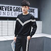 新款套装男2018秋季修身韩版潮流帅气青少年运动休闲裤子卫衣