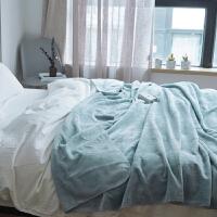 纯色法兰绒小毛毯 秋冬双人珊瑚绒毯子空调午睡毯子单人
