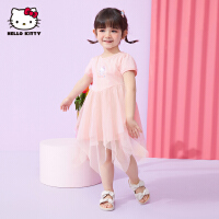【2件2.3折:69.1元】HelloKitty女童网纱连衣裙2021夏季新款公主裙婴儿宝宝儿童装裙子