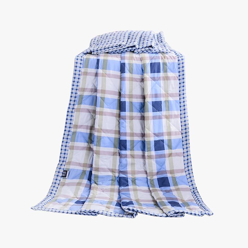 当当优品家纺 可水洗印花夏凉被 200x230双人空调被 艺术旋律蓝当当自营 柔软透气 水洗机洗不变形