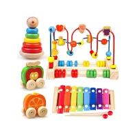 一岁宝宝串珠玩具1-2-3周岁百宝箱6-12个月儿童积木绕珠玩具