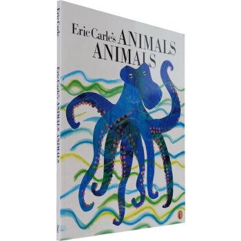英文原版绘本 美国进口 Eric Carle's Animals Animals 卡尔爷爷的动物 大开 宝宝儿童启蒙阅读英语训练睡前故事图画书 正版进口