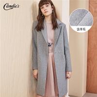 【3折到手价:240】【满399减80】呢子大衣女士冬季新款韩版宽松西装领风衣羊毛中长款毛呢外套
