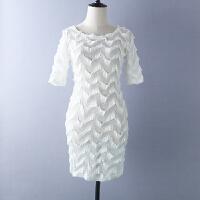 蕾丝连衣裙 夏女装性感蕾丝包臀短袖连衣裙