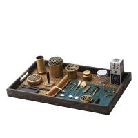 精炼黄铜专业香道用具套装纯铜空熏杯香粉打篆工具隔火熏香炉