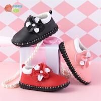 贝贝怡女童学步鞋新款宝宝小皮鞋防滑软底机能鞋学步鞋童鞋193X147
