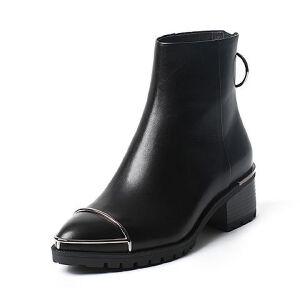 【百丽集团夏季大促,5.28准时开抢】Belle/百丽冬专柜同款油皮小牛皮女短靴BLP41DD6