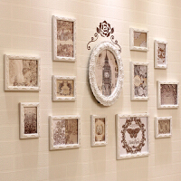 照片墙 不规则欧式实木相框墙卧室客厅沙发背景相片墙长方形组合