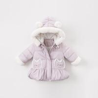 [2件3折价:180.9]夹棉加厚戴维贝拉冬季新款女童宝宝棉衣棉服DBM9199