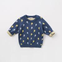 戴维贝拉秋冬季新款男童加厚针织衫宝宝套头毛衣DBJ8304