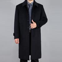 中老年过膝加长羊绒大衣男长款羊毛呢子大衣长外套大码风衣