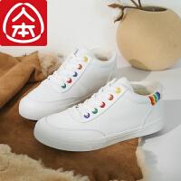 人本二棉鞋女2019新款冬季加绒保暖短筒小白鞋百搭韩版学生棉短靴