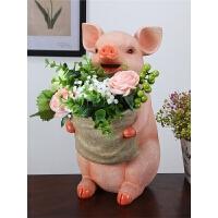 现代时尚客厅摆件可爱猪家居装饰品创意电视柜工艺品实用家装摆设