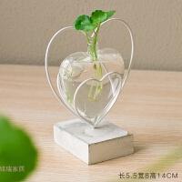花瓶摆件创意客厅办公桌面装饰餐桌容器迷你小花艺透明水培玻璃瓶
