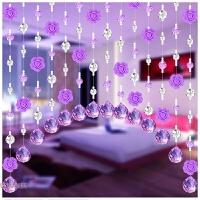 成品水晶珠帘隔断帘门帘装饰客厅卧室拱形挂帘窗帘生活日用居家创意