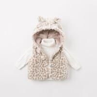 戴维贝拉女童冬季新款洋气马甲宝宝保暖绒马甲DBM8602
