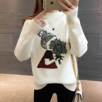 秋冬装新款韩版半高领套头长袖学生毛衣女士百搭时尚宽松打底衫潮