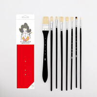 水粉笔套装 小小鸟猪鬃笔美术色彩丙烯画笔手绘米亚扇形笔画水粉用的画笔一笔一世界勾线