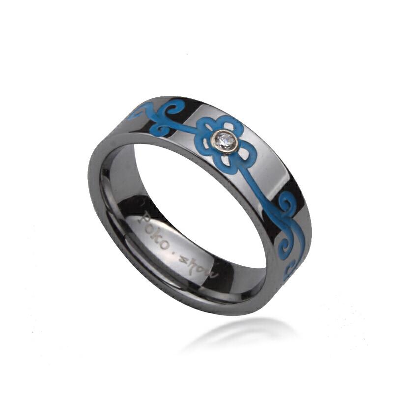 梦克拉 钨金戒指 青花 年中狂欢 行走的高级感 耀眼夺目 更出色