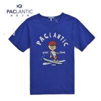派克兰帝童装 男童时尚圆领图案T恤