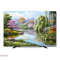 电视机罩防尘罩壁挂液晶55英寸32盖布65曲面50布艺油画欧式电视套生活日用创意家居
