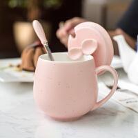创意简约杯子陶瓷女学生韩版马克杯带盖勺家用牛奶咖啡情侣水杯