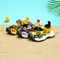 【2件25折:104.75元】B.Duck小黄鸭童鞋男童凉鞋2021夏季新款男孩软底透气沙滩时尚凉鞋B2183935