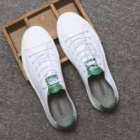 春季新款男休闲皮鞋韩版潮流小白鞋男鞋子英伦风学生男鞋百搭板鞋
