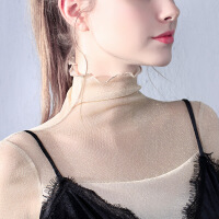 春季网衣打底衫女 新款显瘦百搭网沙长袖性感薄纱网纱衣服透明
