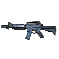 儿童玩具枪迷你小枪小Q版枪软弹枪绝地求生合金水晶蛋玩具小枪六一礼物儿童节礼物 M416 约25cm 套餐一