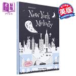 【中商原版】纽约的旋律 英文原版 New York Melody 精装 剪影纸雕书 Helene Druvert