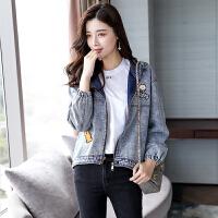 牛仔秋装短款外套女士新款宽松原宿风学生韩版个性时尚潮流百搭 牛仔蓝