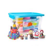 儿童橡皮泥太空手工彩泥沙黏土女孩套装玩具粘土24色