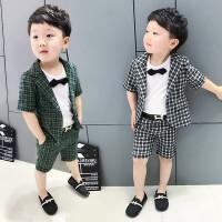 6男童儿童西装套装男三件套1一3岁小孩新款韩版夏天宝宝西服