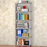 索尔诺 加高层架简易书架 实用书橱 收纳置物架 自由组装架子书柜书架sj06
