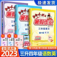 黄冈小状元暑假作业三年级语文数学英语全套3本2021新版三升四年级