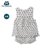 迷你巴拉巴拉女童宝宝短袖套装年夏装新款婴幼儿童装两件套潮