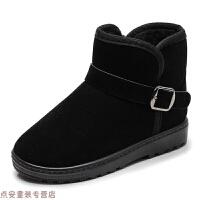 冬季冬季儿童雪地靴男童短靴2018新款童靴中大童加绒女童靴子保暖棉靴秋冬新款