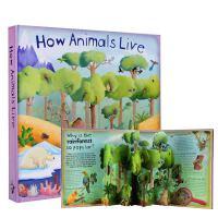 进口英文原版 How Animals Live 动物如何生活 Christiane Dorian精装3D弹起趣味立体科