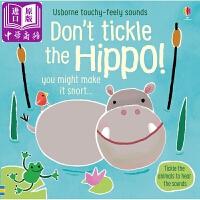 【中商原版】触摸发声书:别摸河马 英文原版 Don't Tickle the Hippo! 精装绘本