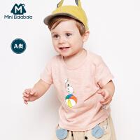 【618大促-99元选3件】迷你巴拉巴拉男女童宝宝2018夏装新款短袖T恤婴童纯棉体恤衫