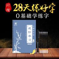 南国书香成人学生字帖行楷练字帖凹槽钢笔硬笔行书楷书练字板神器