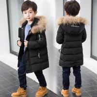 男童棉衣反季2018新款�n版潮外套中大�和�中�L款加厚棉�\