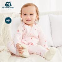 【尾品汇清仓】迷你巴拉巴拉和尚服婴儿套装男女童宝宝新生儿二件套衣服上衣裤子