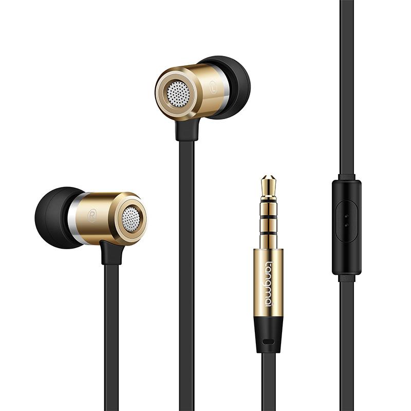 手机入耳式耳机 通用重低音炮面条线控笔记本金属耳塞带麦